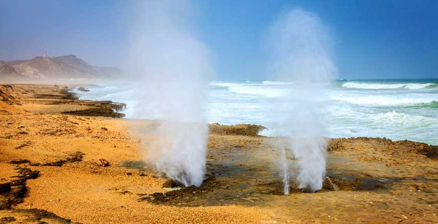 blow hole in Salalah