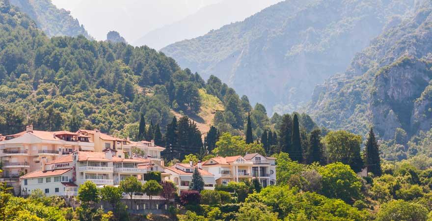 Litochoro in den Bergen in Griechenland