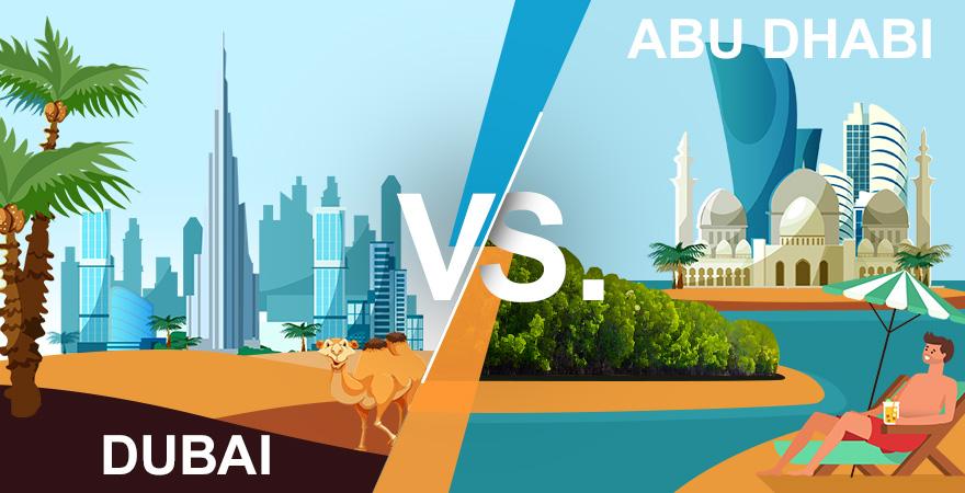 Grafik Dubai oder Abu Dhabi