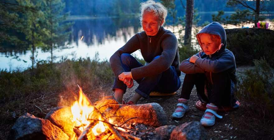 zelten in Schweden