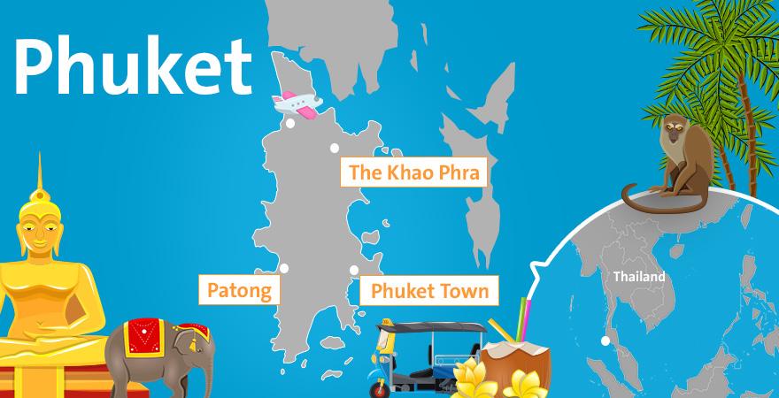 karte von Phuket
