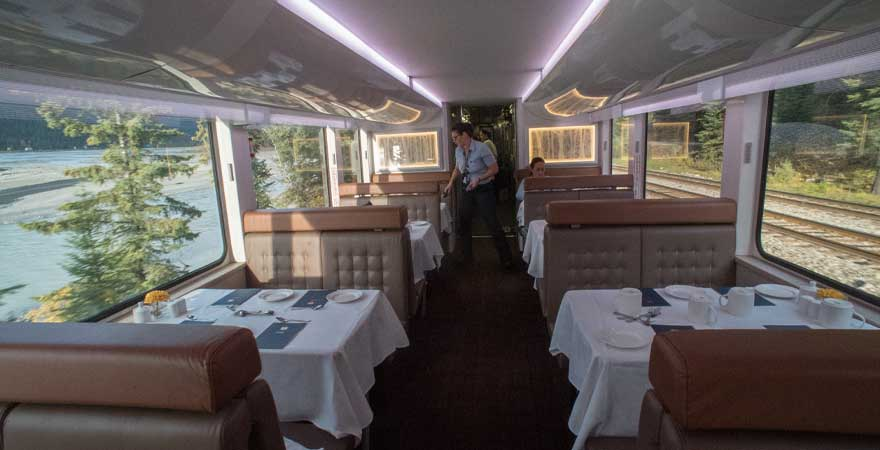 Restaurant im Rocky Mountaineer