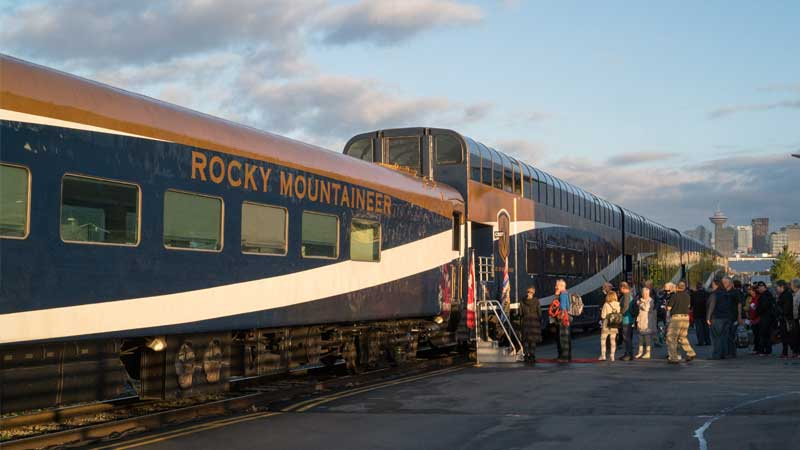 Vancouver Station mit dem Rocky Mountaineer