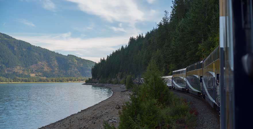 Rocky Mountaineer in Sicamous