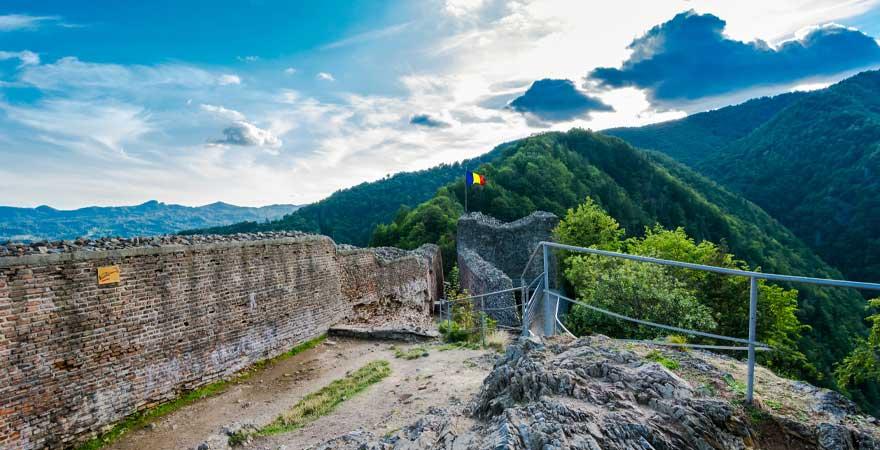 Aussicht von Poenari Ruine