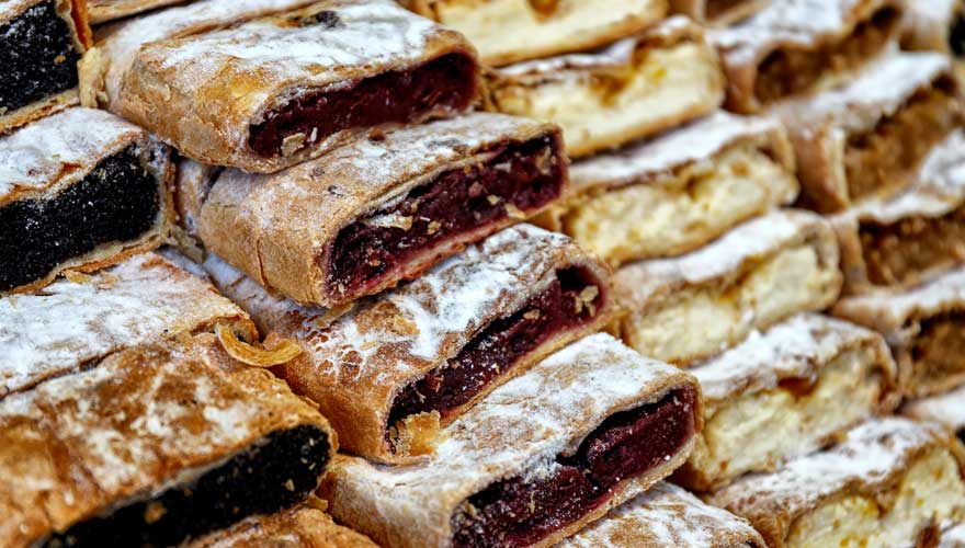 selbstgemachter Strudel in Budapest