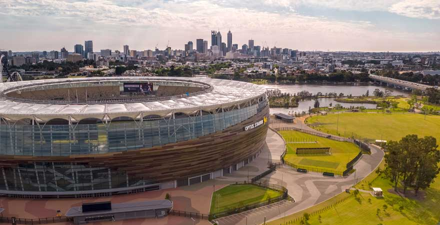 Optus Stadium in Perth