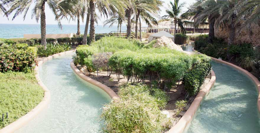 Lazy River des Hotel Bandar in Muscat