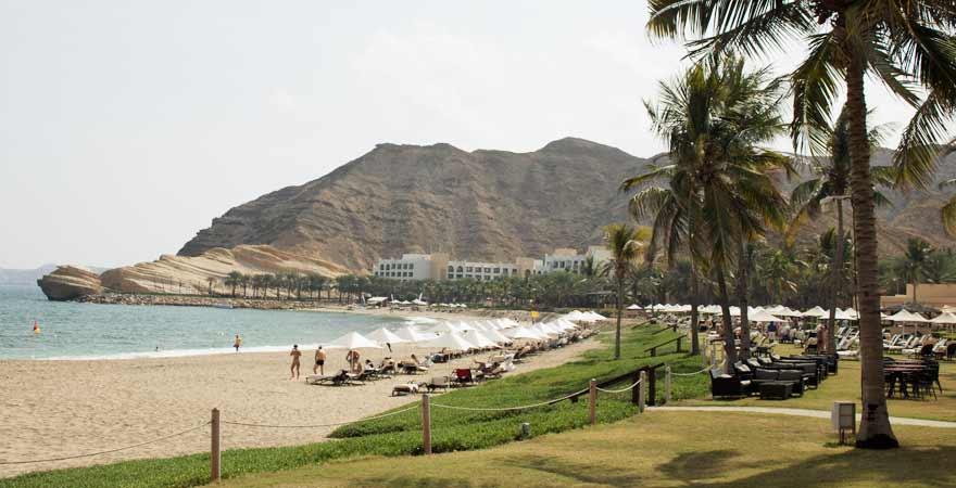 Liegewiese des Hotel Bandar in Muscat