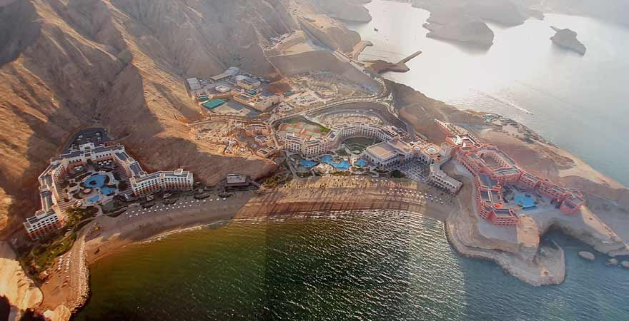 Luftbild des Shangri-La Barr Al Jissah Resort & Spa