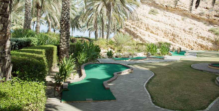 Minigolfanlage des Hotel Bandar in Muscat