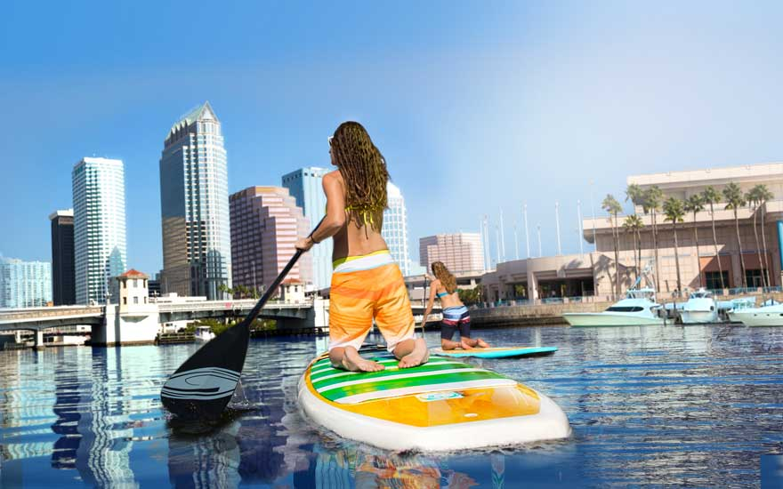 SUp in Tampa Bay
