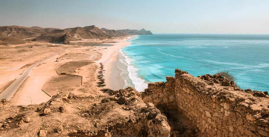 Mughsail Beach im Oman