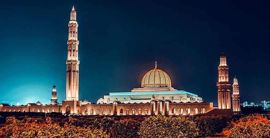 Sultan Qaboos Grande Mosque in Maskat