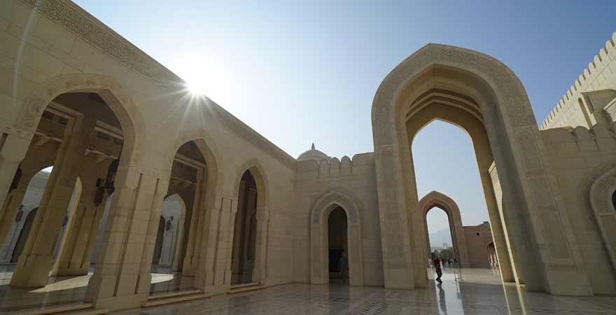 Sultan Qaboos Grande Mosque in Maskat im Oman