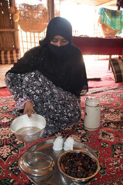 Beduinin im Oman