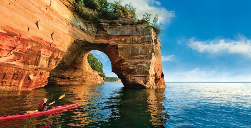 aknaufahrt auf einem See in Michigan