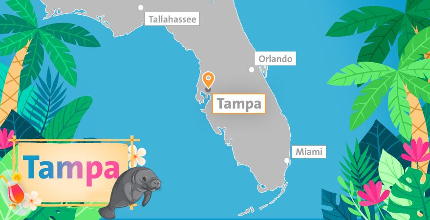 Karte Tampa