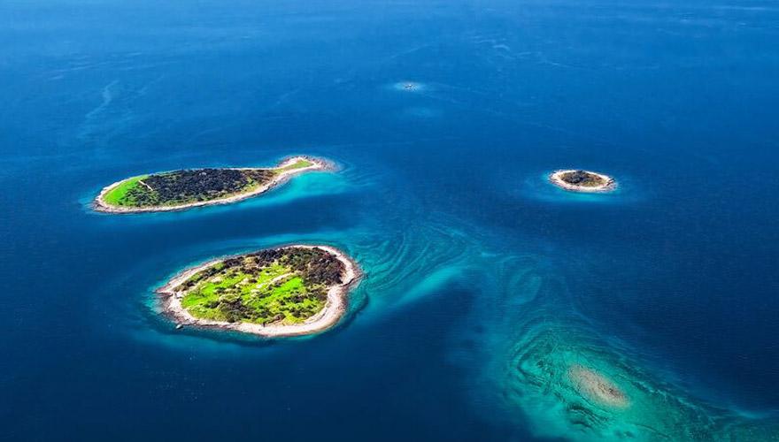 Blick auf Brijuni Inseln in kroatien