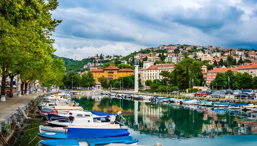 Fluss Rjecina in Rijeka in Kroatien