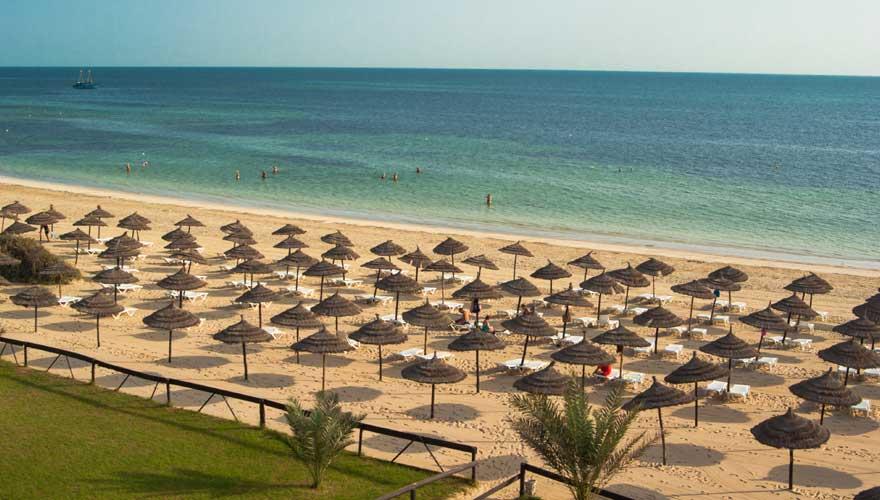 Strand auf Djerba, Tunesien