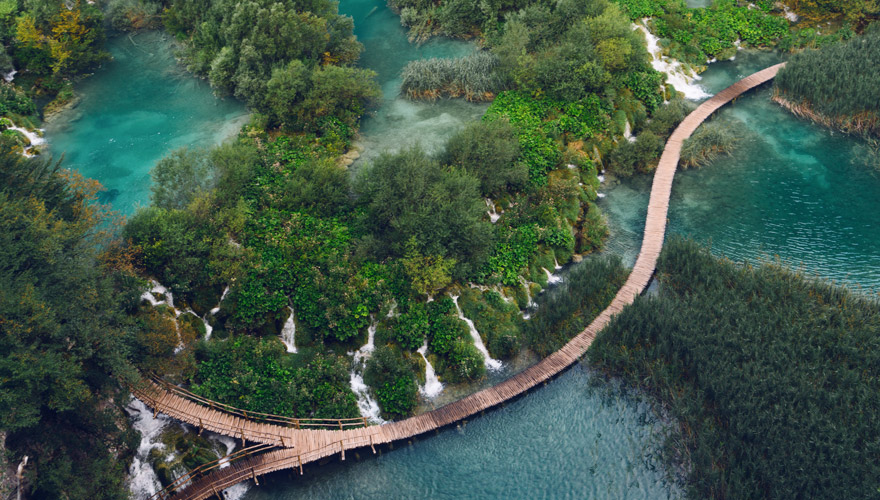 kleine Wasserfälle im Nationalpark Plitvicer Seen