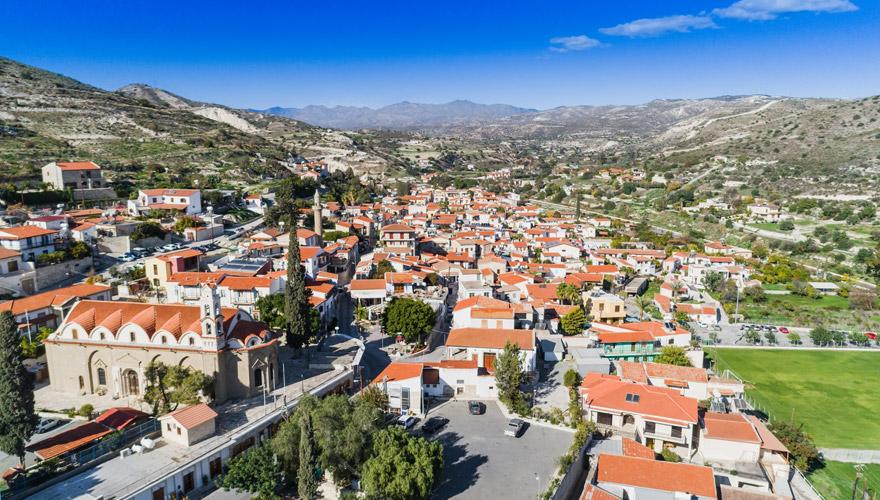 Blick auf Larnaca auf Zypern