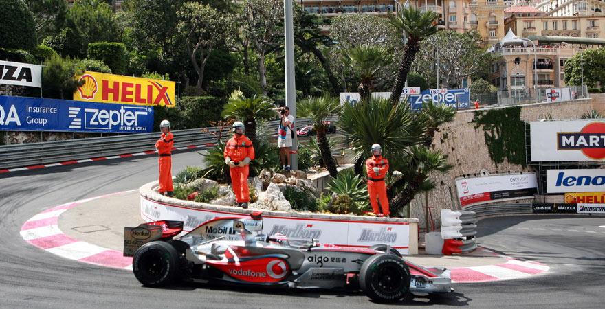 Grand Prix in Monaco mit der Haarnadelkurve