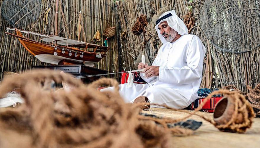 Handwerk im Heritage Village in Abu Dhabi