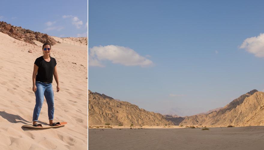 Sandboarding im Nabq Naturschutzgebiet bei Sharm el Sheikh