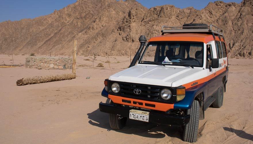 Jeep im Nabq Naturschutzgebiet