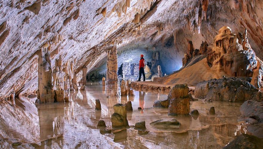 Tropfsteinhöhle in Slowenien