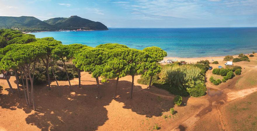 Golf von Baratti in der Toskana
