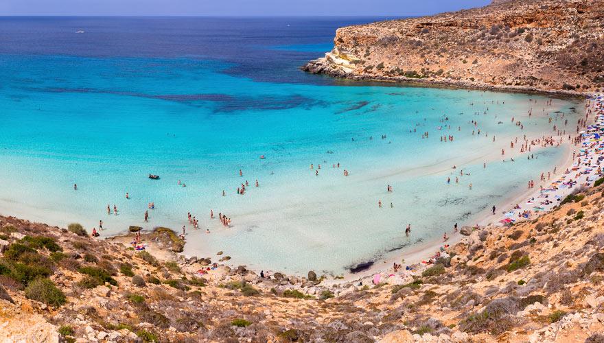 Strand aud Lampedusa