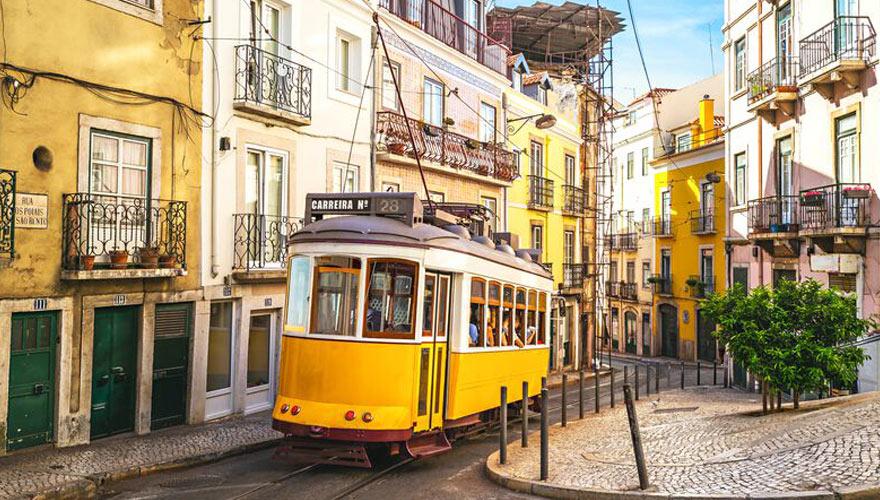 Tram Electrico 28 in Lissabon