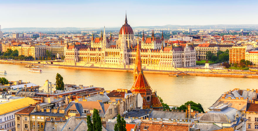 Blick auf Ungarn