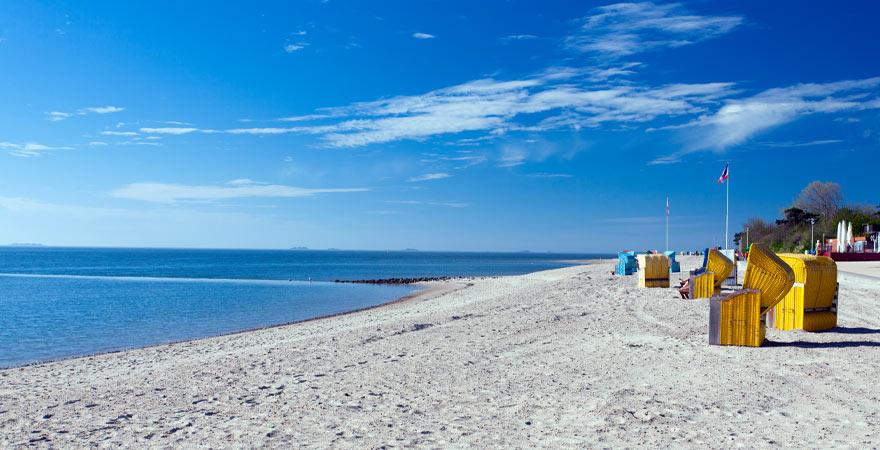 Strand auf der Insel Föhrt