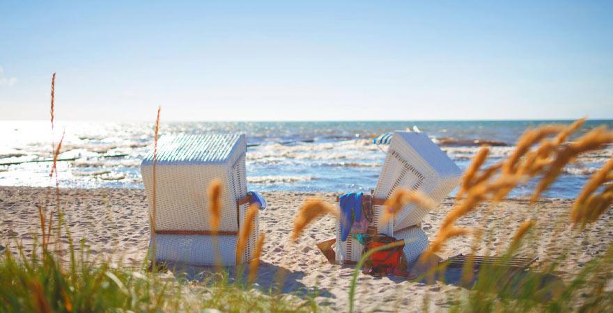 strandkorb an der Nordsee