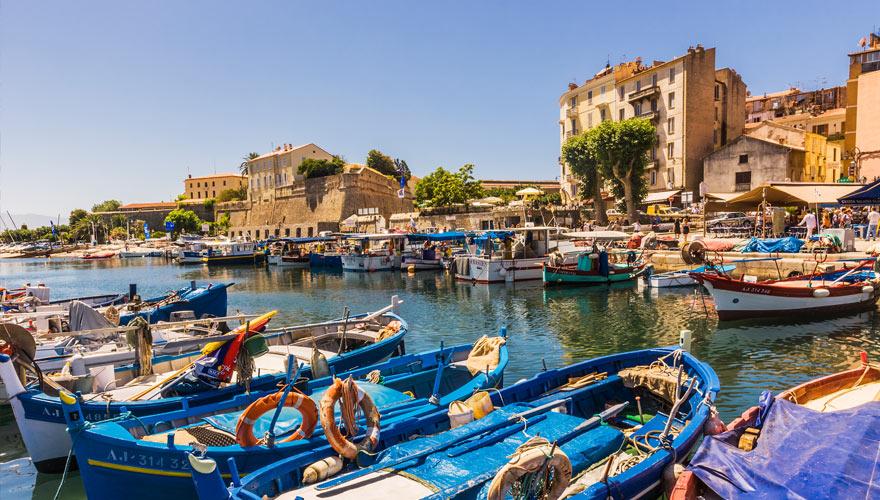 Hafen Ajaccio auf Korsika