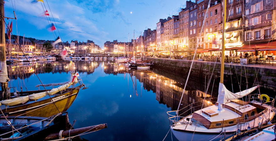 Hafen Honfleur in Frankreich