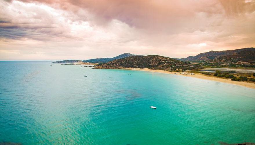 Küste bei Chia auf Sardinien