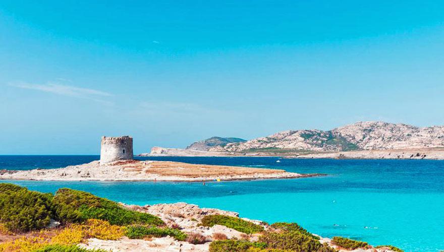 la Pelosa auf einer Halbinsel auf Sardinien
