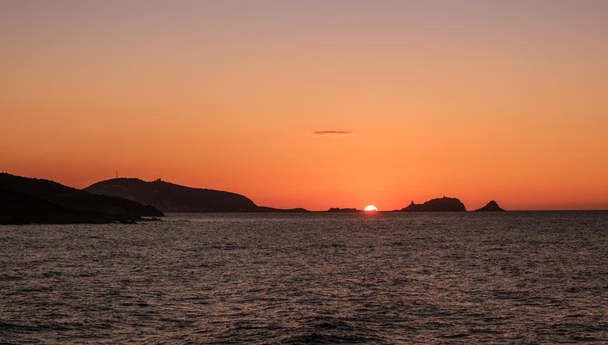 Sonneuntergang la Pieta auf Korsika