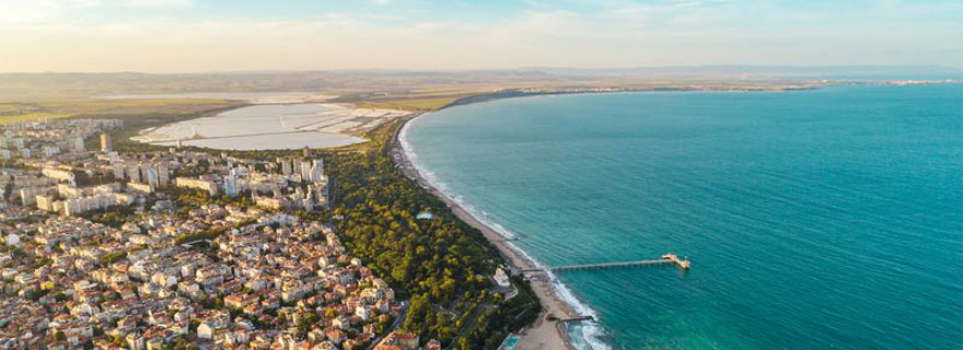 Strandabschnitt bei Burgad in Bulgarien