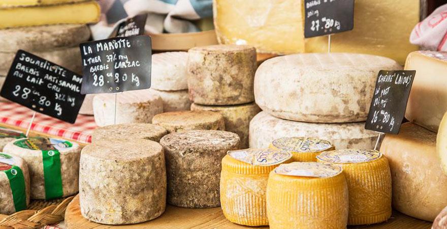 typischer Käse in Frankreich