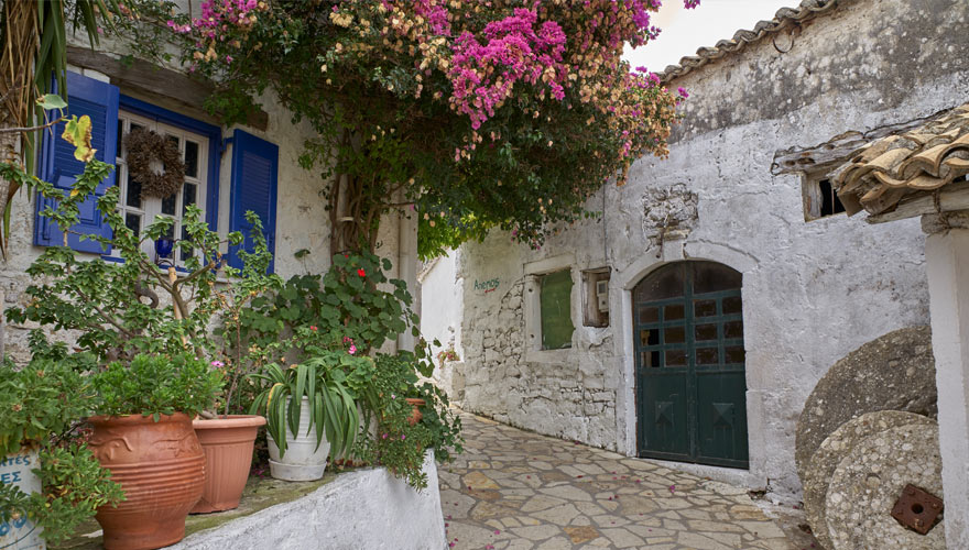 Dorf Afionas auf Korfu