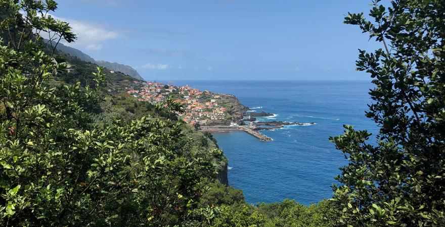 Blick auf Seixal auf Madeira