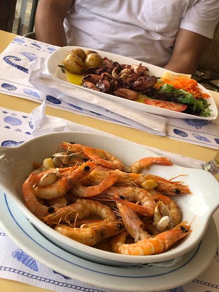 Essen und Trinken an der Algarve