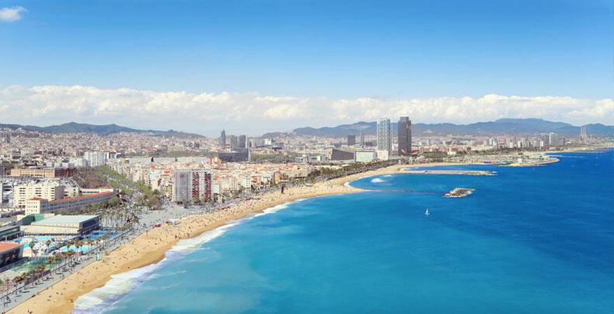 Stadtstrand in Barcelona