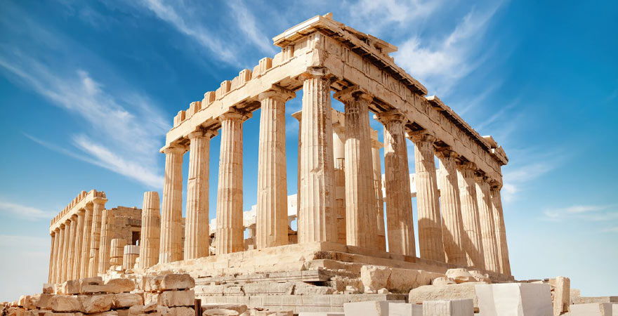 Parthenon auf der Akropolis im Athen
